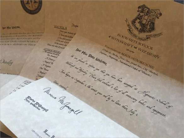 Hogwarts Acceptance Letter Template Awesome Sample Hogwarts Acceptance Letter 8 Download Documents