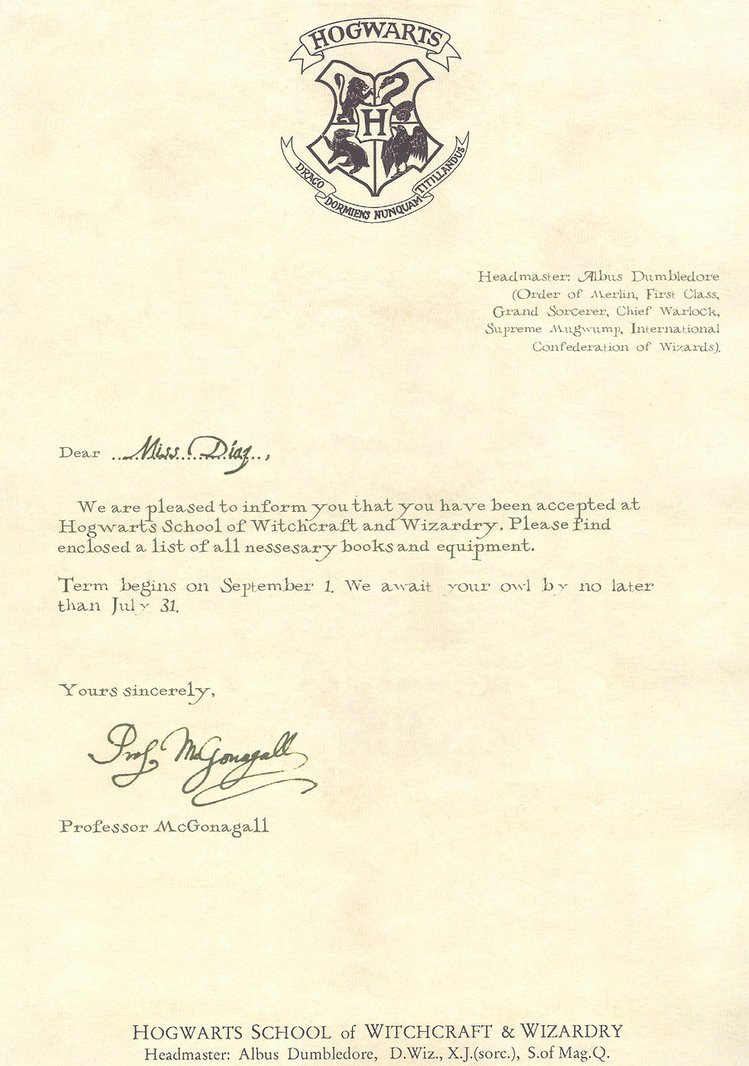Hogwarts Acceptance Letter Template Beautiful Hogwarts Acceptance Letter Template