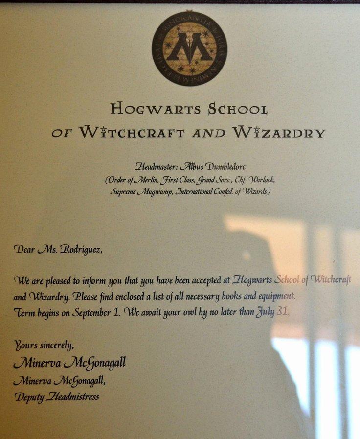free program harry potter hogwarts acceptance letter pdf
