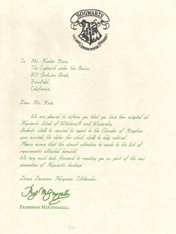 Hogwarts Acceptance Letter Template Elegant Unavailable Listing On Etsy