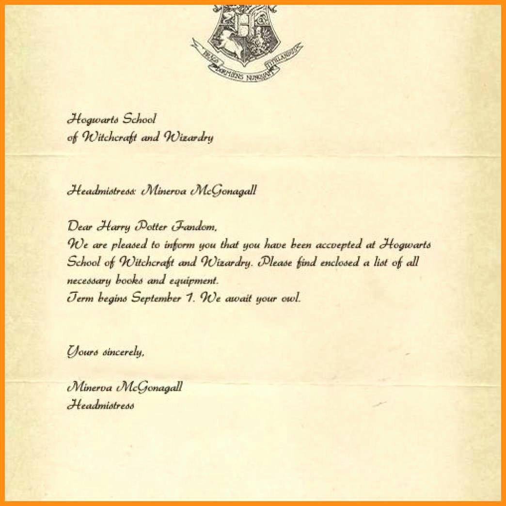 Hogwarts Acceptance Letter Template Fresh 19 Harry Potter Hogwarts Acceptance Letter Pdf
