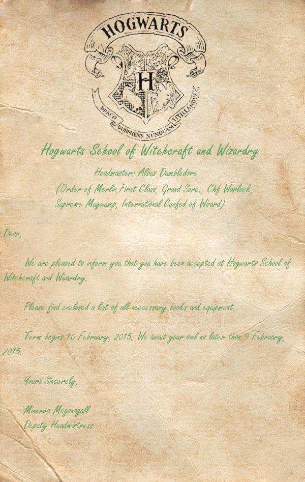 Hogwarts Acceptance Letter Template Lovely Hogwarts Acceptance Letter Template