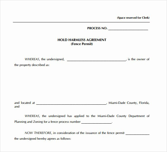 Hold Harmless Agreement Template Best Of Sample Hold Harmless Agreement 10 Documents In Pdf Word