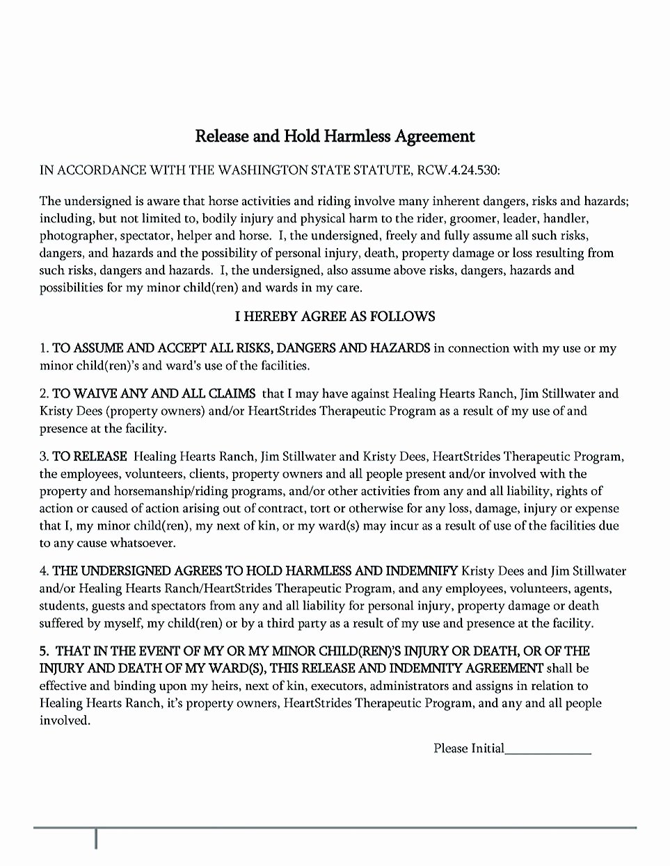Hold Harmless Agreement Template Inspirational Making Hold Harmless Agreement Template for Different Purposes