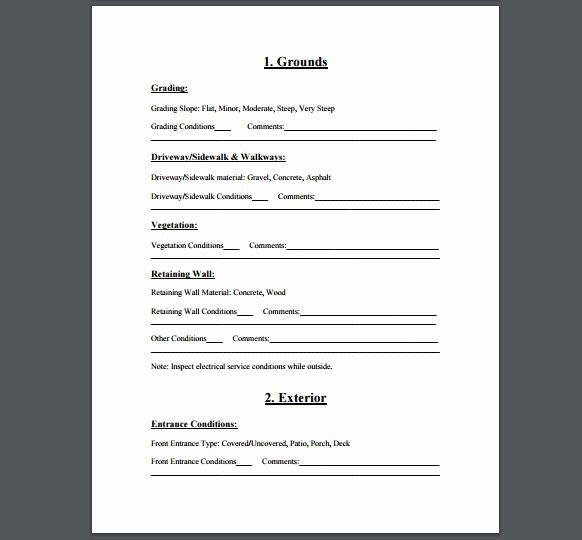 Home Inspection Checklist Template Elegant Home Inspection Checklist A Free Printable Checklist for