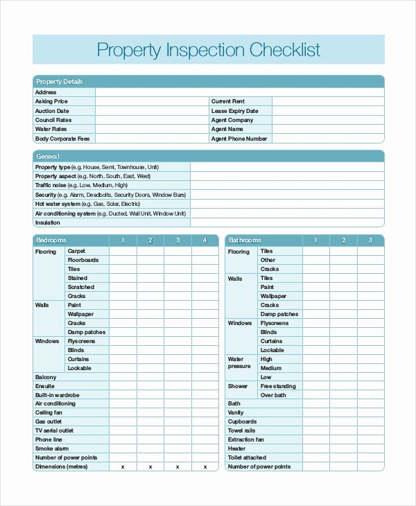 Home Inspection Checklist Templates Inspirational Home Inspection Checklist 17 Word Pdf Documents