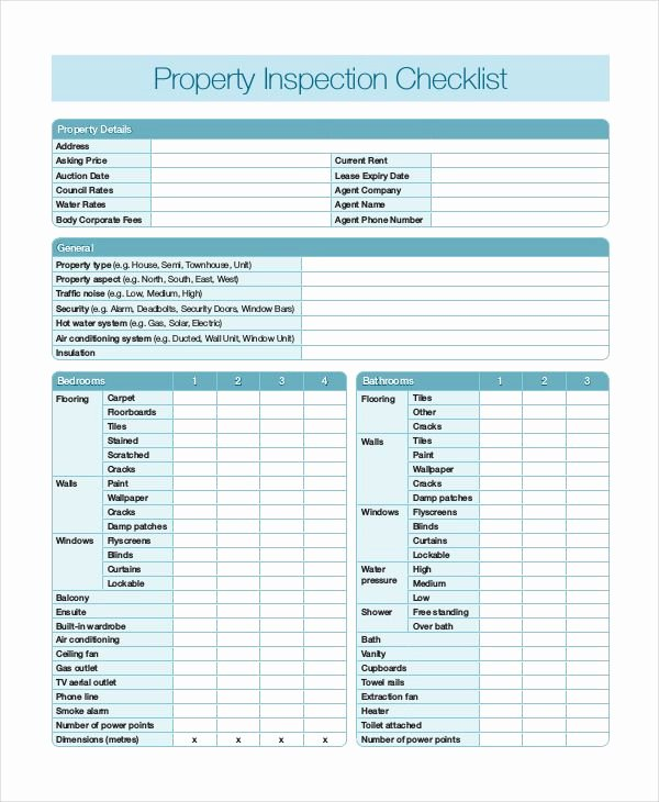Home Inspection Checklist Templates Luxury 20 Printable Home Inspection Checklists Word Pdf