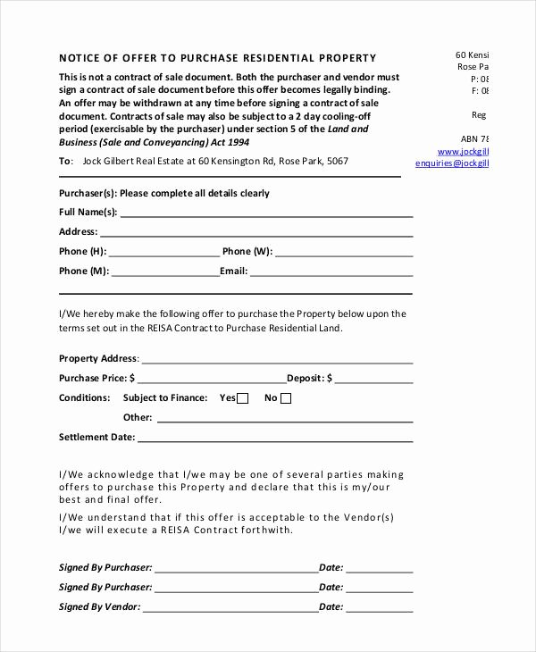 Home Offer Letter Template Best Of Fer Letter to Buy A House Template