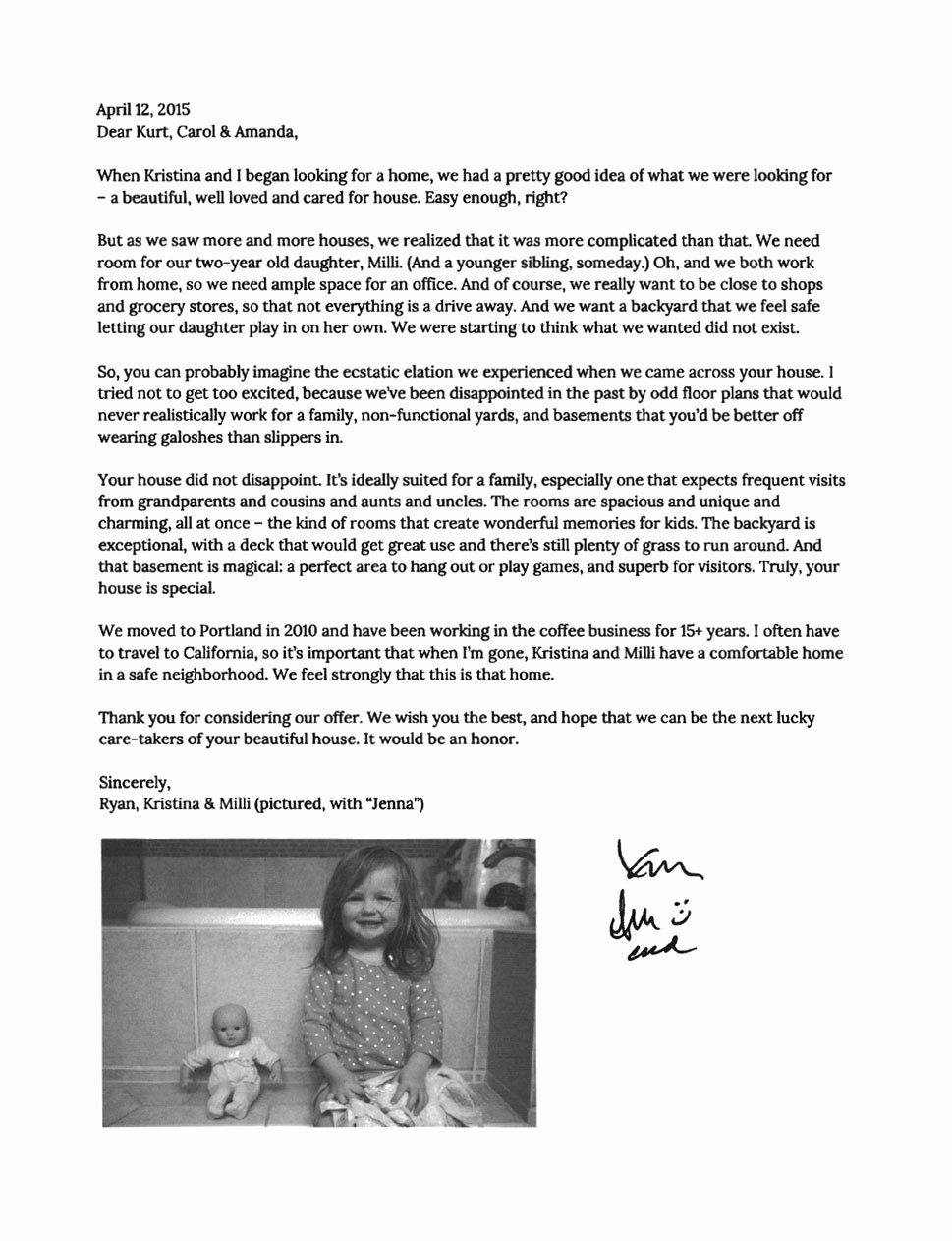 Home Offer Letter Template Lovely A Heartfelt Letter Convinced E Family to Sell their Home