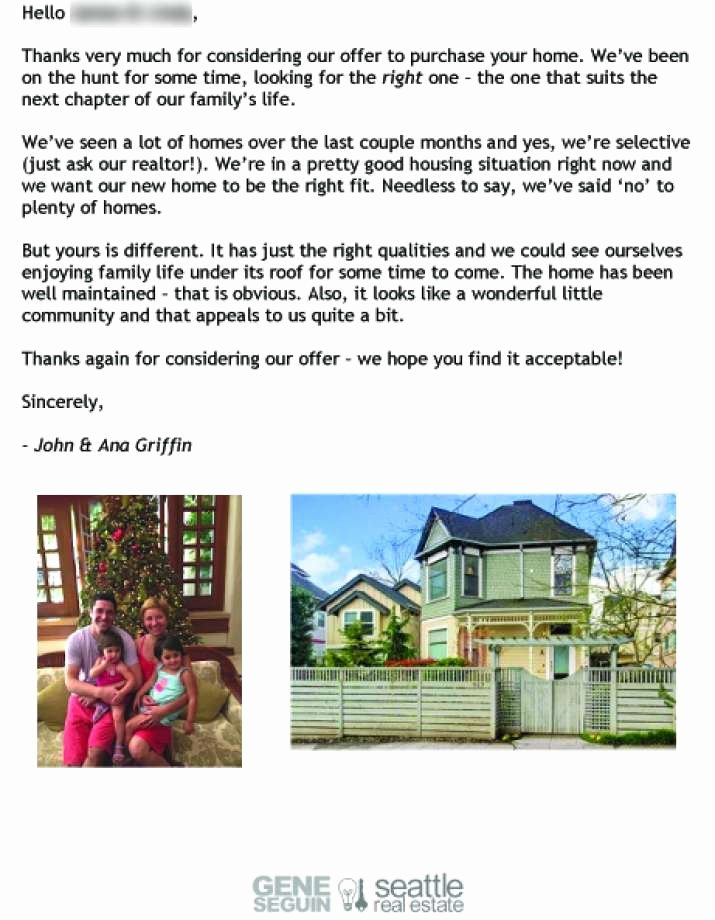 Home Offer Letter Template Luxury Dear Seller Letters Work for Home Ers Seattlepi