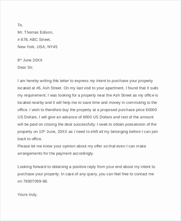 Home Offer Letter Template New 7 Sample Real Estate Fer Letters Pdf Word
