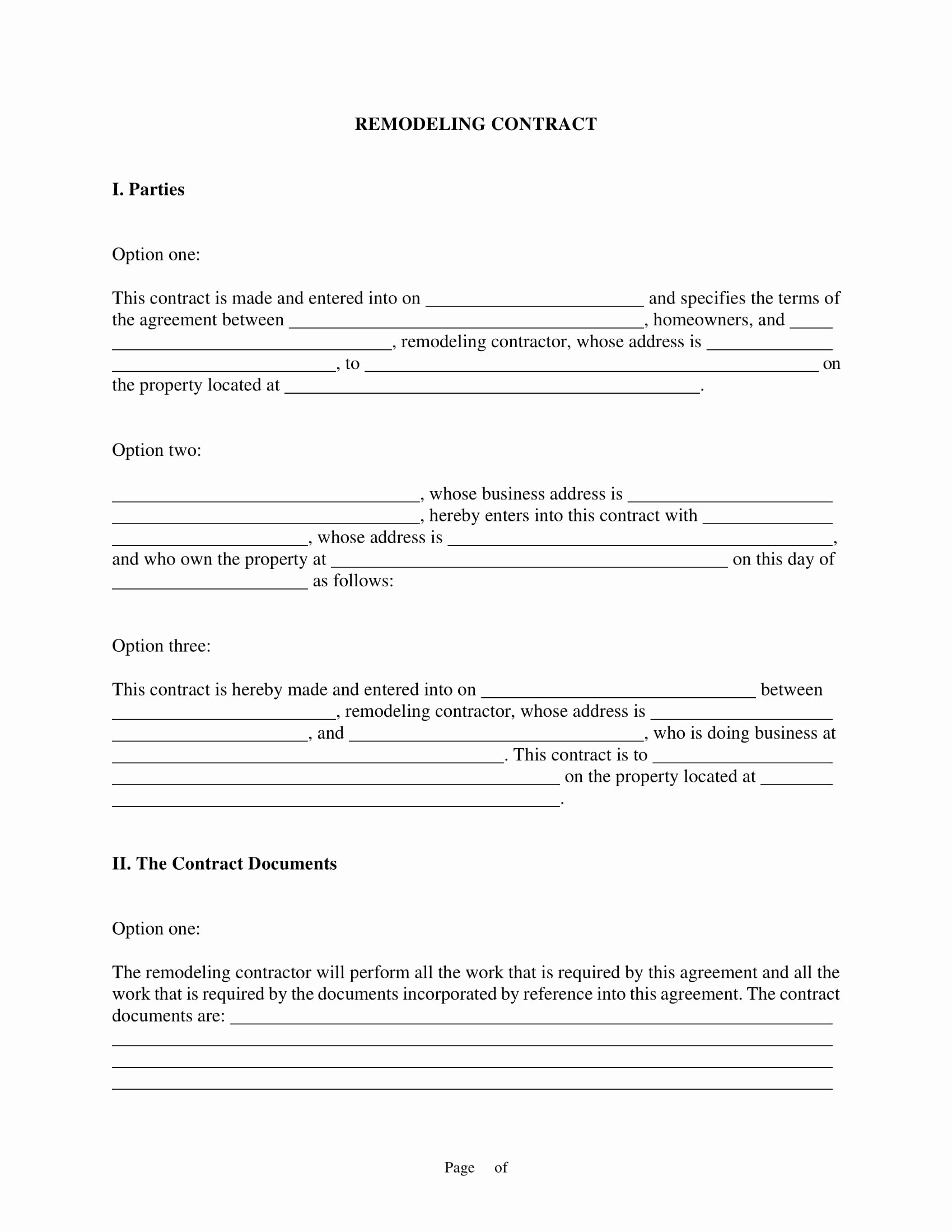 Home Remodeling Contract Template Fresh 10 Bathroom Renovation Contract Template Examples Pdf