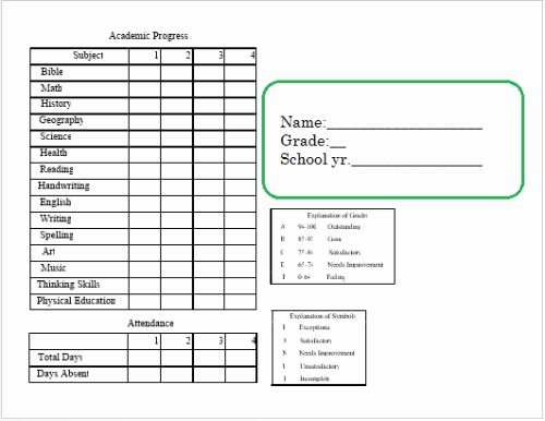 Homeschool Report Card Template Beautiful 14 Best Planners Charts and More Images On Pinterest
