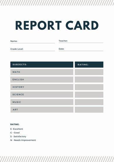 Homeschool Report Card Template Elegant Customize 34 Homeschool Report Card Templates Online Canva