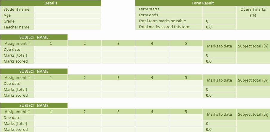 Homeschool Report Card Template Elegant Free Printable Homeschool Report Card Template Word