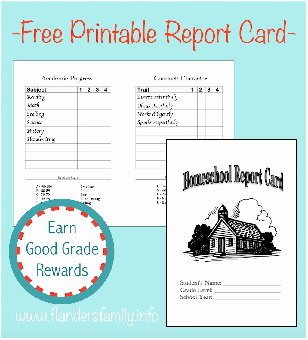 Homeschool Report Card Template Free Best Of Ideas for Celebrating Back to School Flanders Family