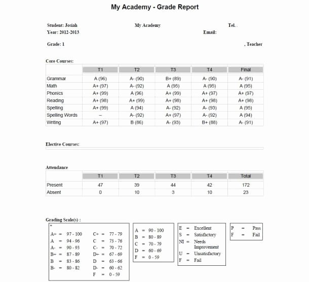 Homeschool Report Card Template Free Inspirational 25 Best Homeschool Grade Cards Images On Pinterest