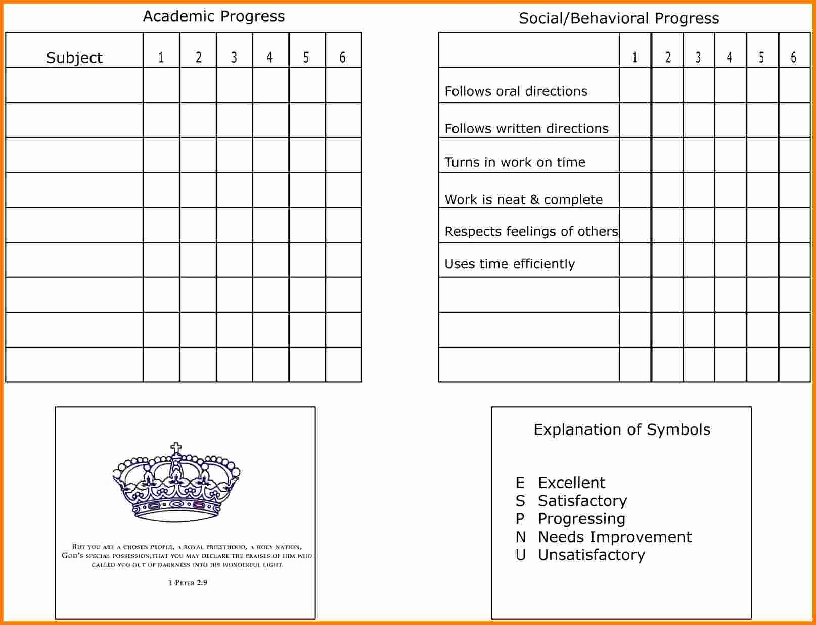 Homeschool Report Card Template Free Luxury 7 Homeschool Report Card Template