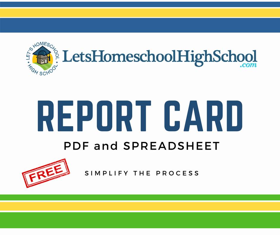 Homeschool Report Card Template Luxury Download Homeschool High School Report Card Template