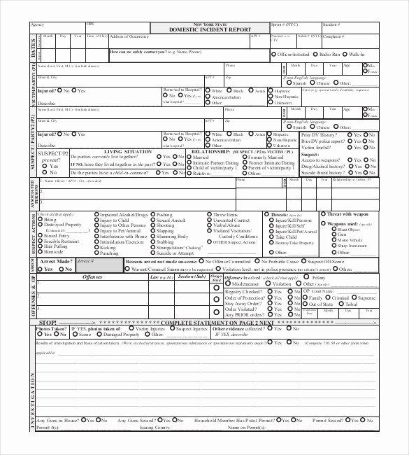 Homicide Police Report Template Beautiful 19 Sample Police Report Templates Pdf Doc