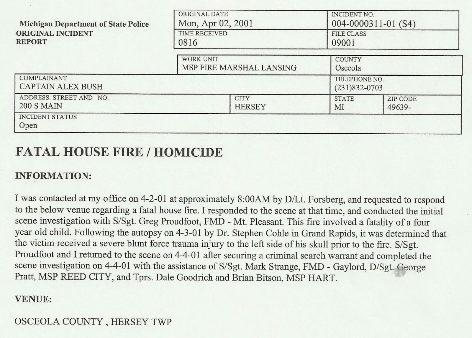 Homicide Police Report Template Best Of Jeni Decker Author Billy Es