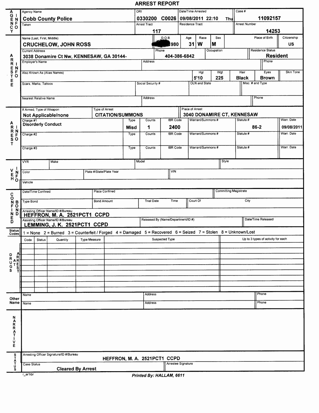 Homicide Police Report Template Unique Police Report Template