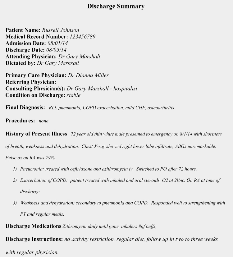 Hospital Discharge Papers Template Beautiful 11 Free Discharge Summary forms In General format