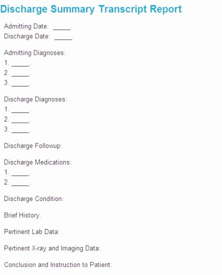 Hospital Discharge Summary Template Beautiful Sample Hospital Discharge Summary