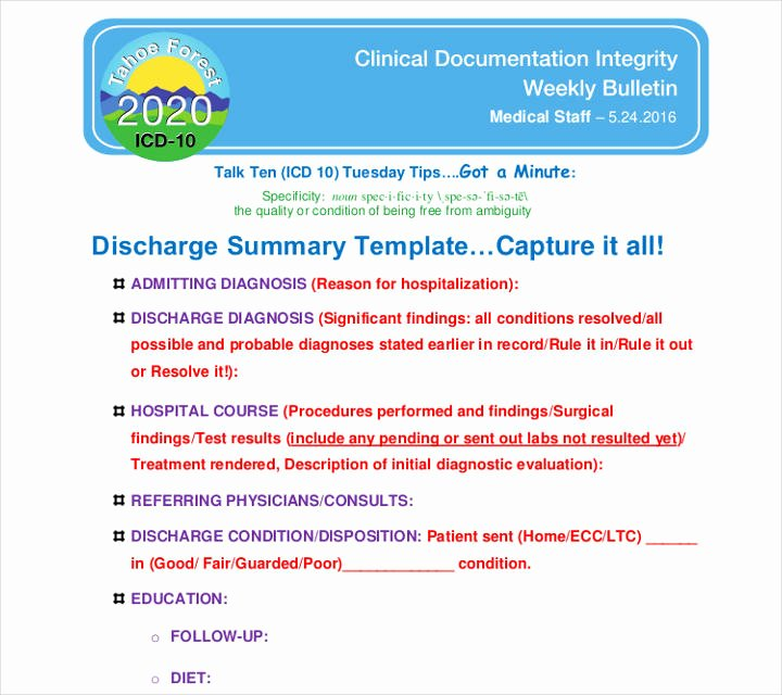 Hospital Discharge Summary Template Elegant 9 Discharge Summary Templates Pdf Doc