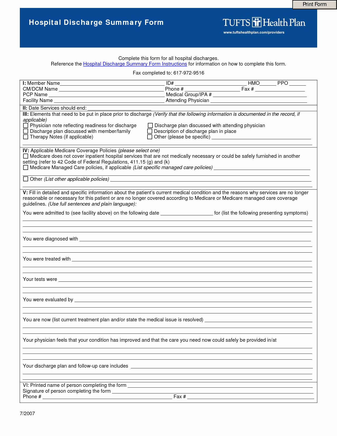 Hospital Discharge Summary Template Fresh Best S Of Hospital Discharge Papers Printable Pdf