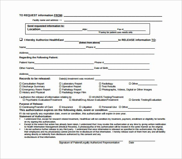 Hospital Release form Template Elegant Sample Hospital Release form 11 Download Free Documents