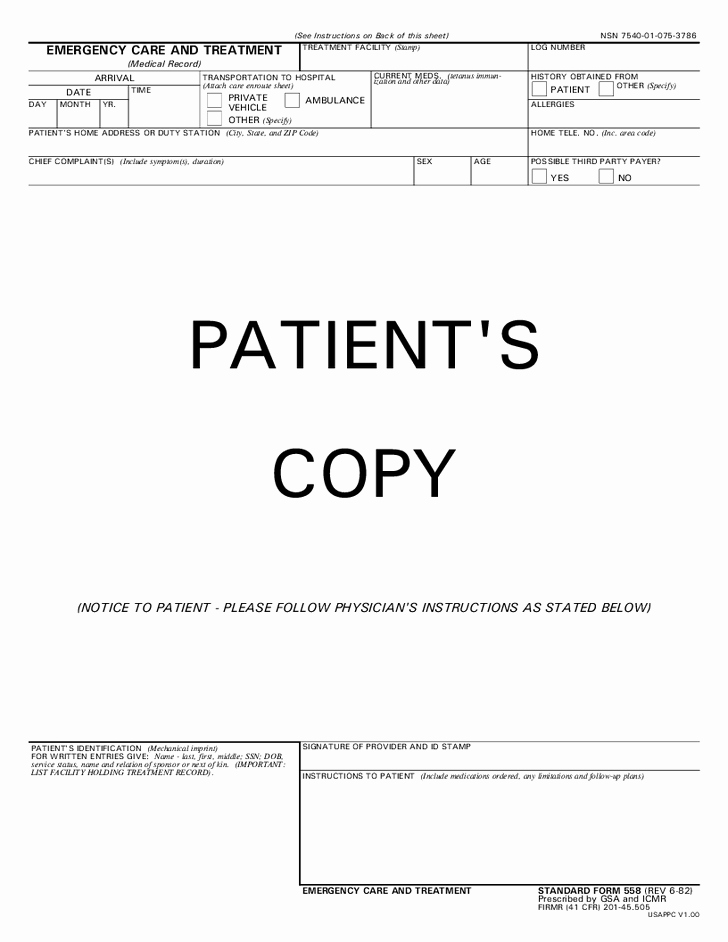 Hospital Release form Template Luxury 29 Of Urgent Care Documentation Template
