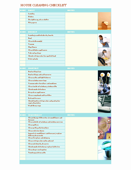 House Cleaning Checklist Template Best Of House Cleaning Checklist for Microsoft Personal Access