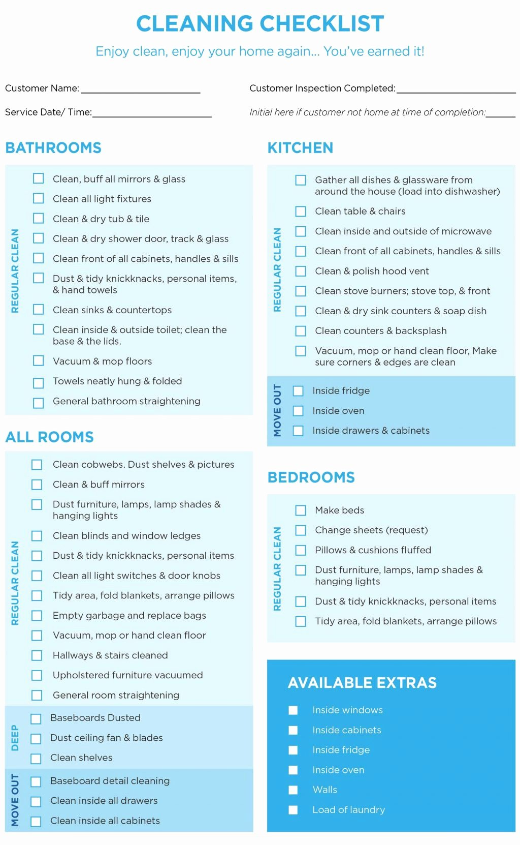 House Cleaning Checklist Template Fresh 40 Helpful House Cleaning Checklists for You