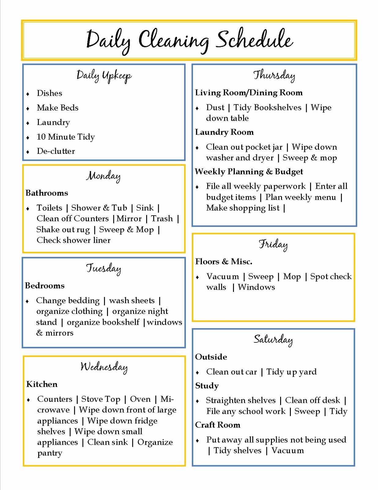 House Cleaning Checklist Template Inspirational 40 Helpful House Cleaning Checklists for You