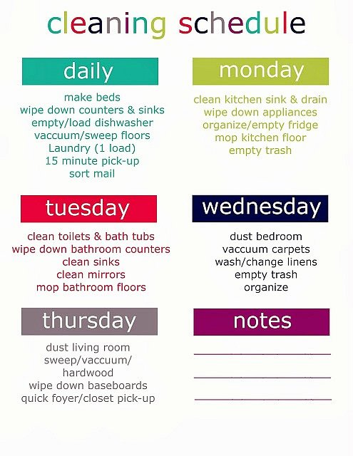 House Cleaning Schedule Template Fresh Printable Weekly Cleaning Schedule