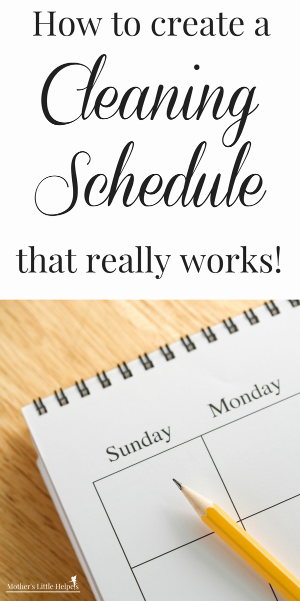 House Cleaning Schedule Template Unique How to Create A Cleaning Schedule that Really Works