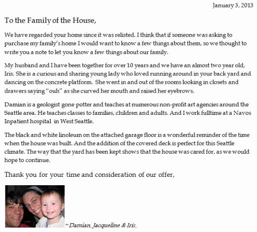 House Offer Letter Template Best Of Dear Seller Letters Work for Home Ers Seattlepi