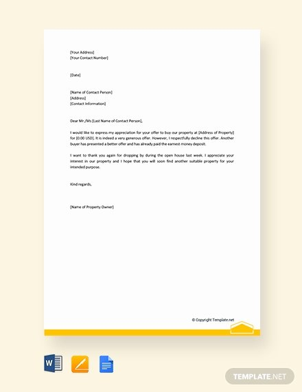 House Offer Letter Template Inspirational Free Letter Template Of Intent for Real Estate Download