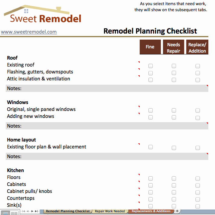 House Renovation Checklist Template Fresh Remodel Planning Checklist Checklist to Go Through when