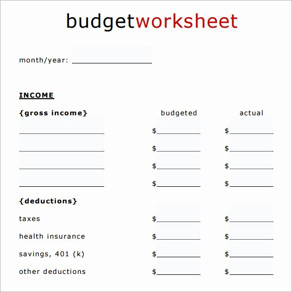 Household Budget Template Pdf Beautiful Sample Household Bud 11 Documents In Pdf Word