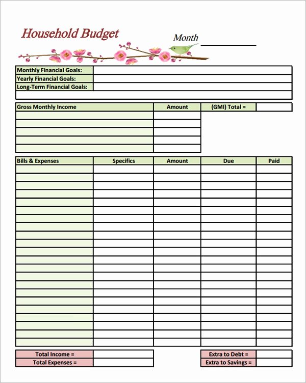 Household Budget Template Pdf Unique Free 10 Household Bud Samples In Google Docs