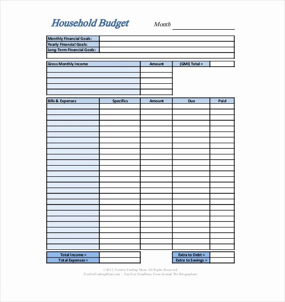 Household Budget Template Pdf Unique Personal Bud Template 13 Free Word Excel Pdf