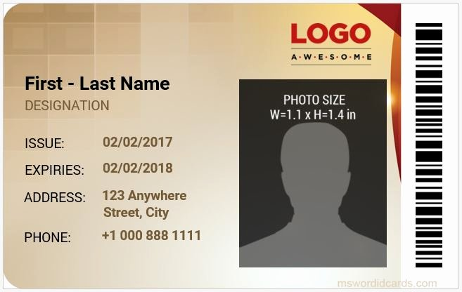 Id Card Template Word Awesome 8 Best Pany Id Card Templates Ms Word