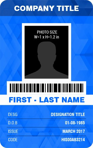 Id Card Template Word Awesome Vertical Design Employee Id Badge Templates
