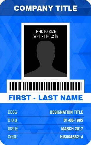vertical design photo id badges