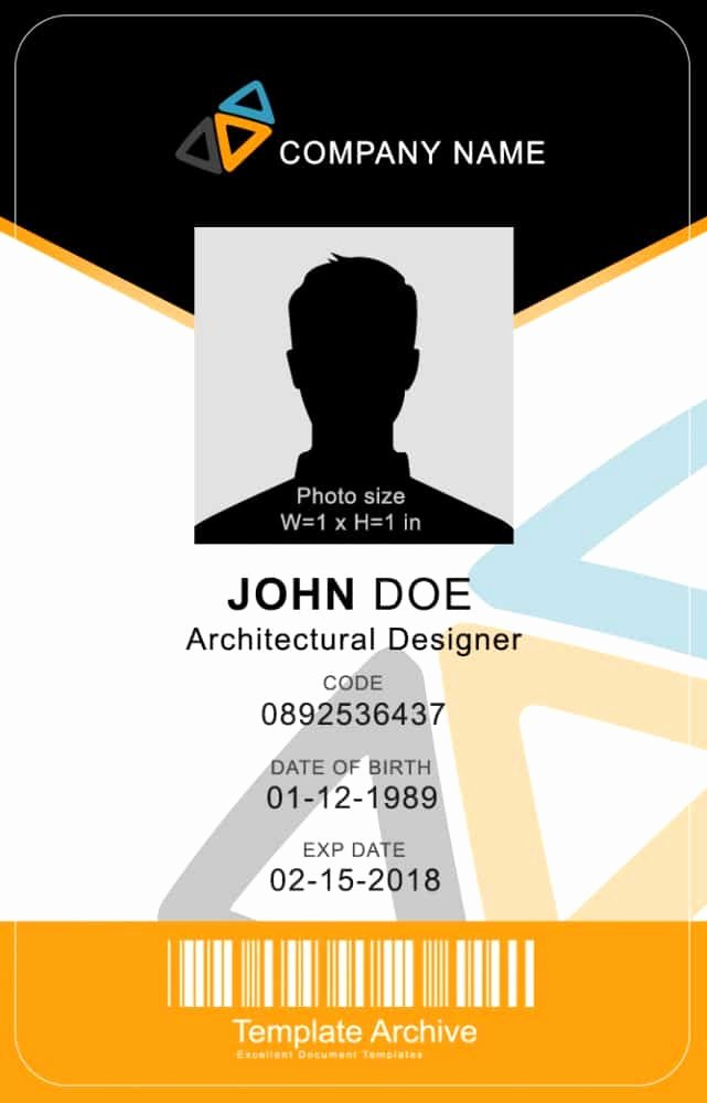 Id Card Template Word Beautiful 16 Id Badge & Id Card Templates Free Template Archive