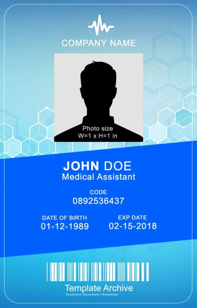 Id Card Template Word Best Of 16 Id Badge & Id Card Templates Free Template Archive