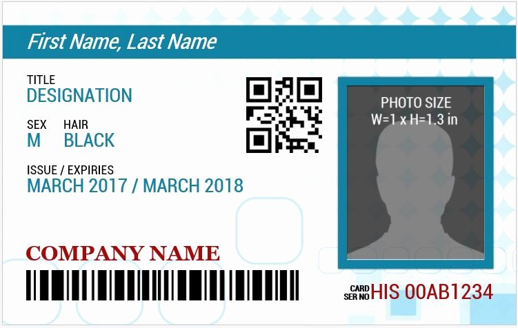 Id Card Template Word Best Of Ms Word Id Badge Sample Template