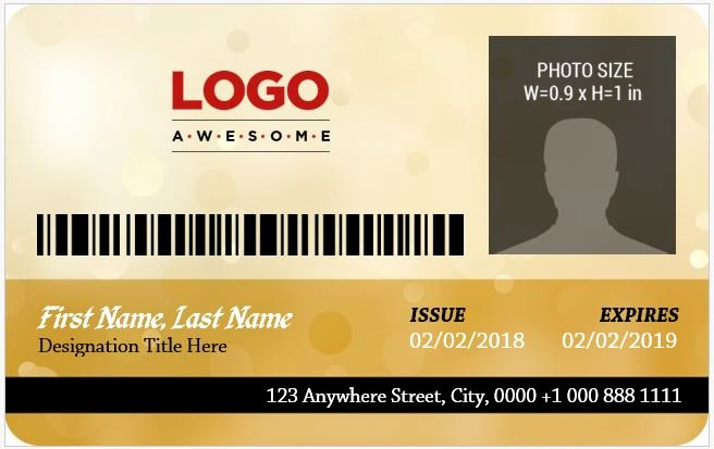 Id Card Template Word Fresh 5 Best Corporate Professional Id Card Templates